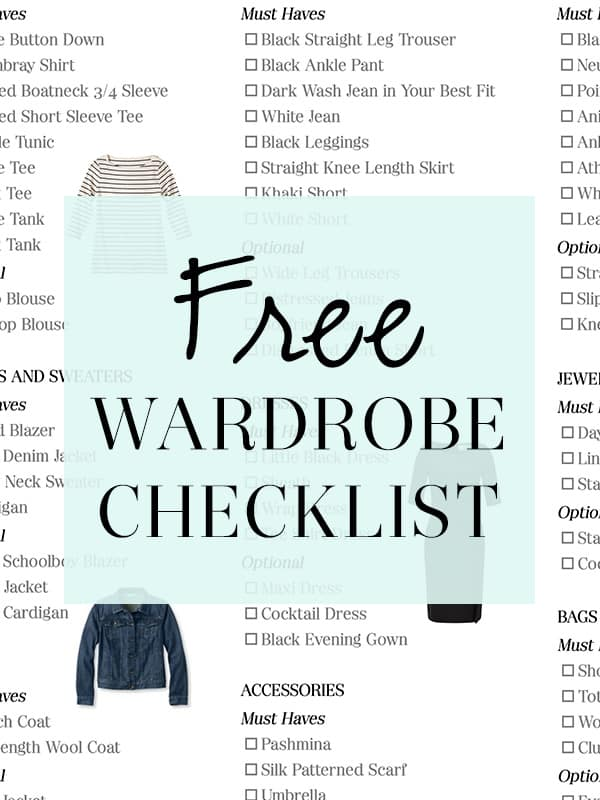 The Well Dressed Life Wardrobe Checklist