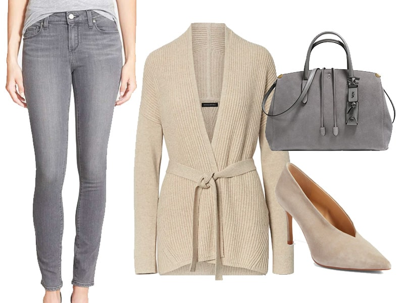 How to Wear Gray Jeans - The Well Dressed Life