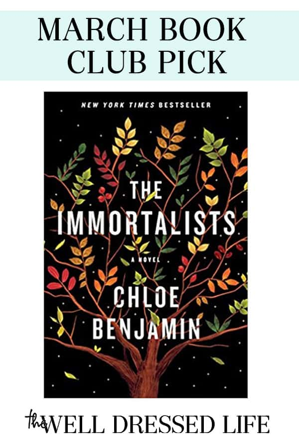 Our Virtual Book Club Selection is The Immortalists