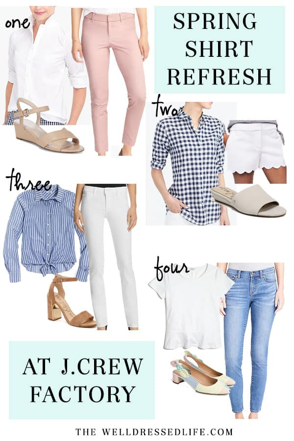 24db0b53460 Spring Shirt Refresh at J.Crew Factory - The Well Dressed Life