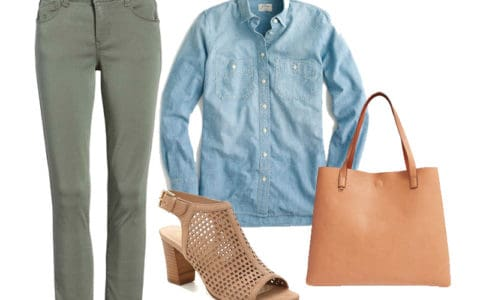 How to Wear Your Olive Green Pants - Outfit 1