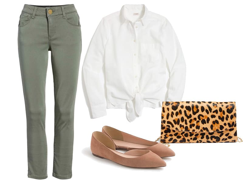 How to Wear Your Olive Green Pants - Outfit 2