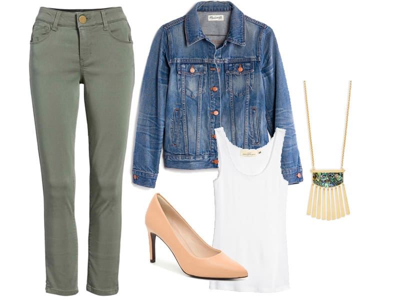 How to Wear Your Olive Green Pants - Outfit 3