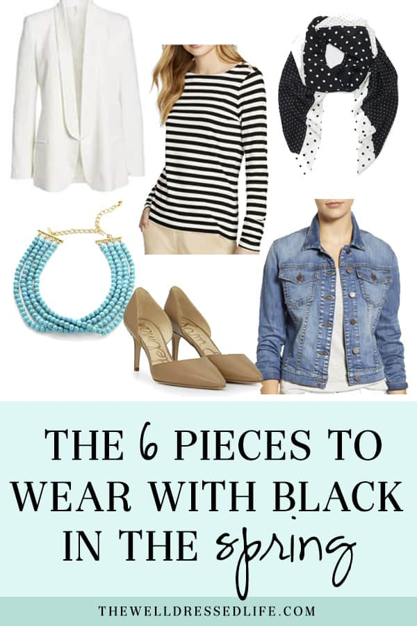 The 6 Pieces To Wear with Black in the Spring