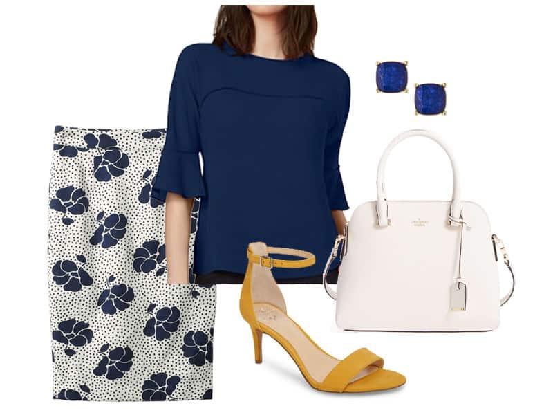 Wear to Work: Floral Boden Skirt