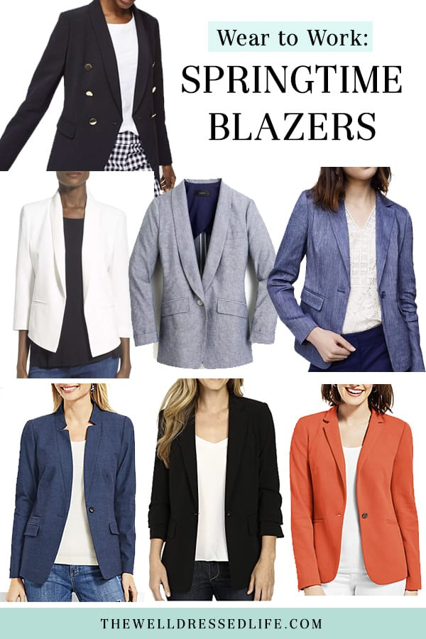 Springtime Blazers for Work - The Well Dressed Life