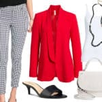 Wear to Work: Black and Red with Dots all Over