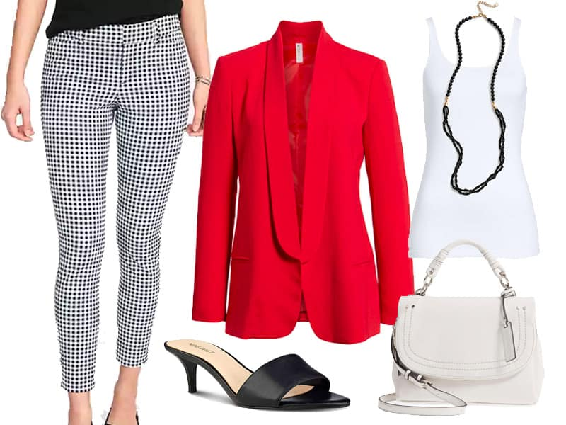 Patterned pants to work