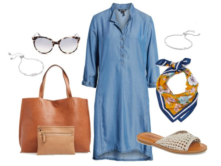 How to Wear a Chambray Dress on Your Summer Weekends