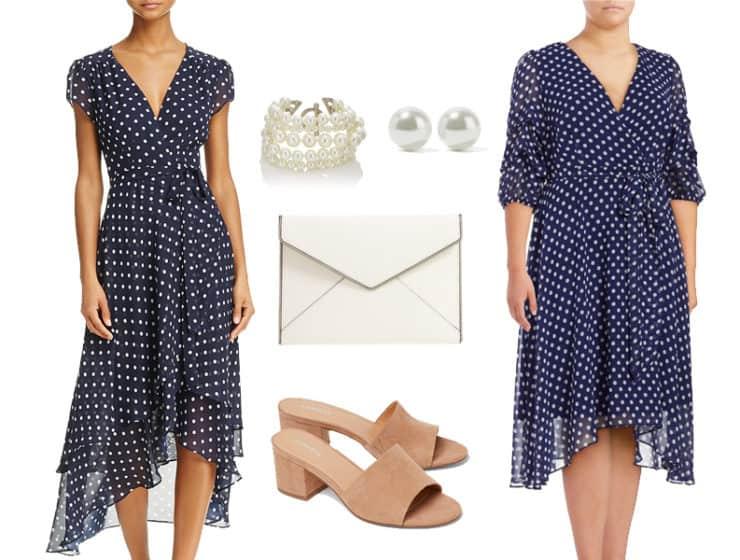 Polka Dot Dress For After Work Events