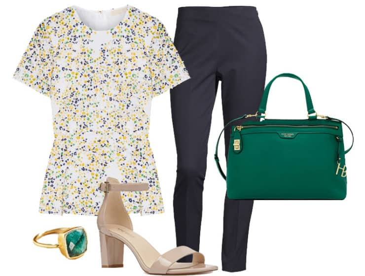 Wear to Work: Floral Peplum