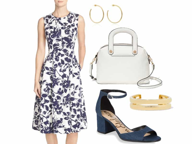 Pretty Floral Dress for the Office