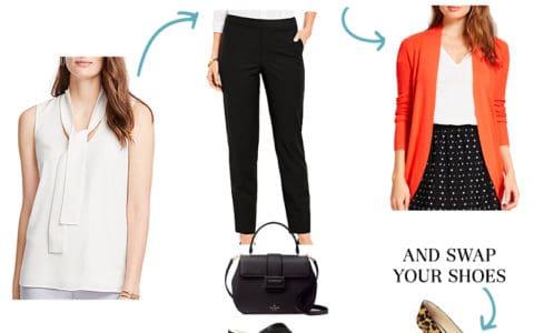 Wear to Work - Tie Neck Blouse