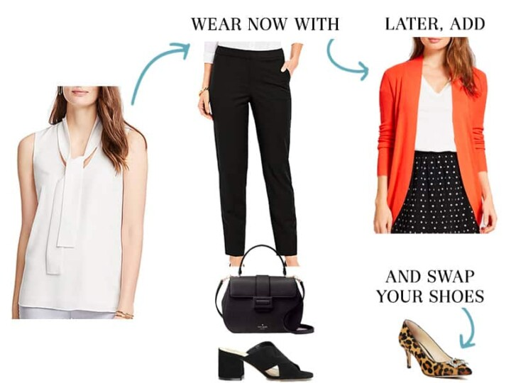 Wear to Work Now and Later: Tie Neck Shell