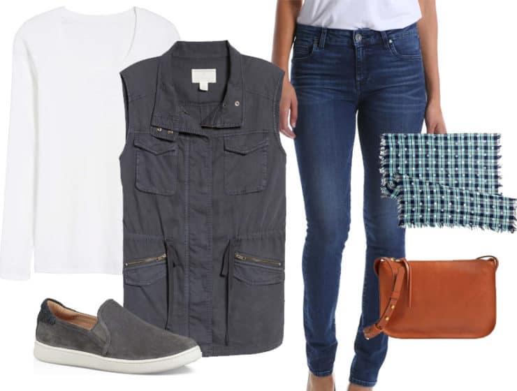 Weekend Inspiration: Navy Utility Vest