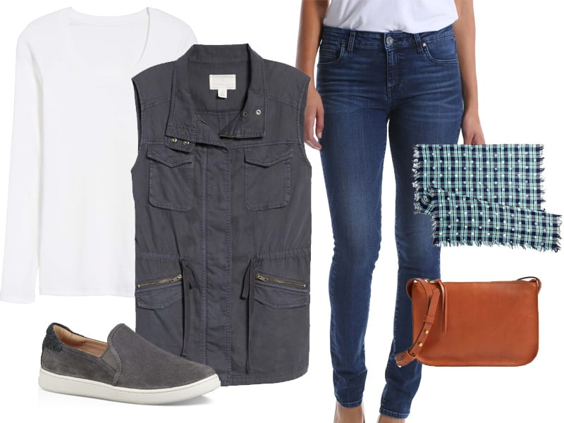 Weekend Inspiration: Navy Utility Vest