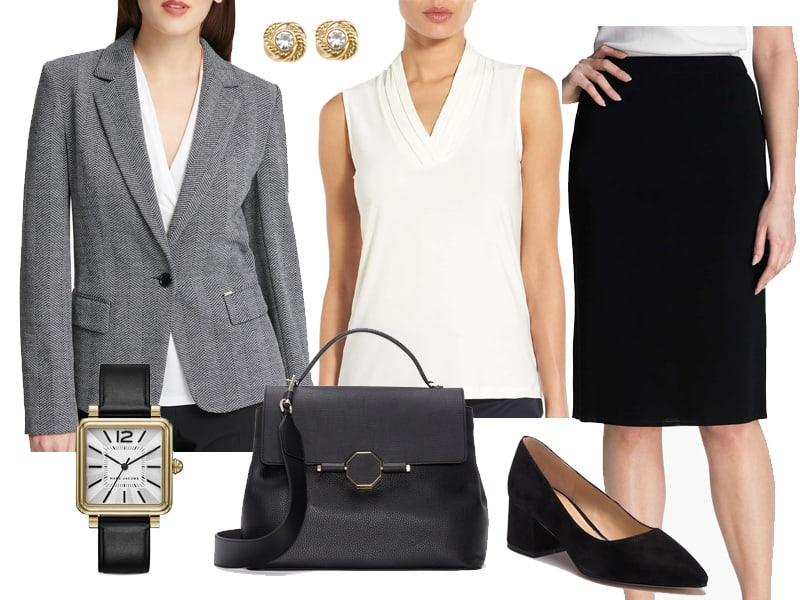 Wear to Work: Herringbone Blazer