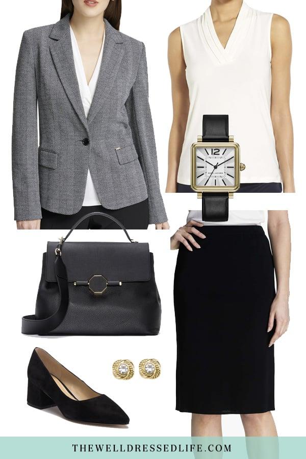 Wear to Work: Herringbone Blazer - The Well Dressed Life