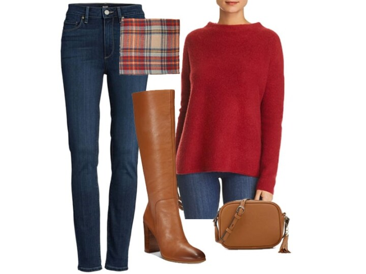 Weekend Outfit Inspiration: Cognac Knee High Boots Two Ways