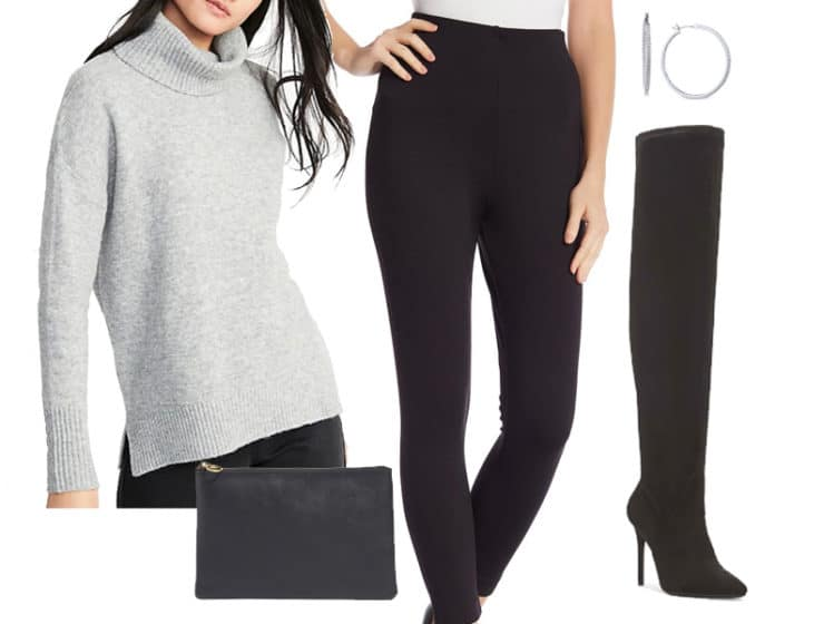 Weekend Outfit Inspiration: Cozy Funnel Neck Sweater