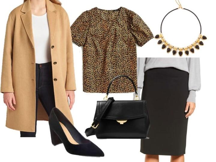 Wear to Work Inspiration: Leopard Print Top
