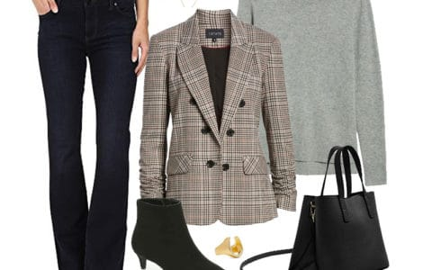 Wear to Work Outfit Inspiration: Plaid Blazer