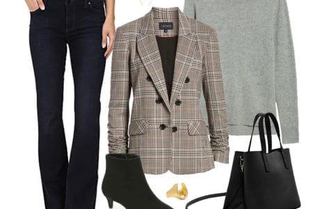 Wear to Work Outfit Inspiration: Plaid Blazer