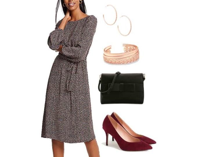 Wear to Work Outfit Inspiration: Tie Waist Dress