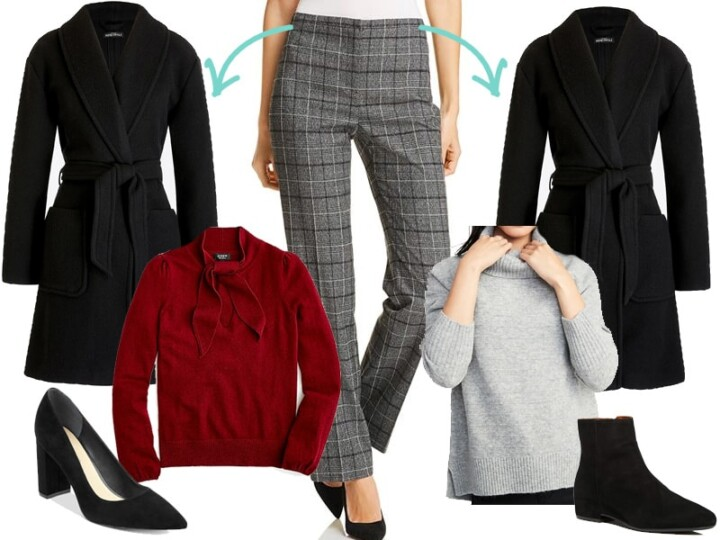 Wear to Work: Plaid Pants Two Ways