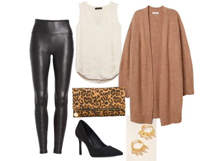 Weekend Outfit Inspiration: Faux Leather Leggings