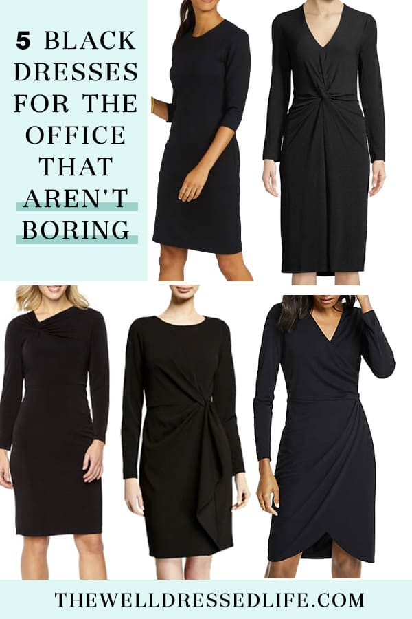 Wear To Work 5 Black Dresses For The Office That Arent Boring