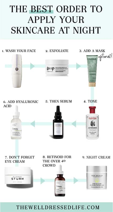 How to Layer Skincare Products | The Best Order to Apply Skincare Products at Night #beauty #beautyhowto #skincare