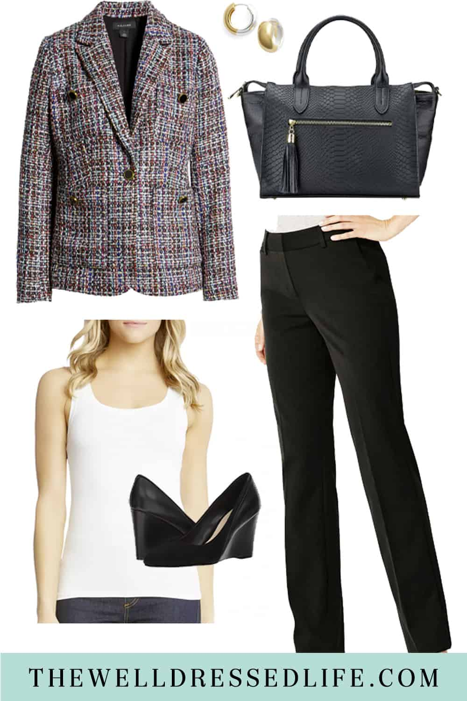 10 Ways to Wear Black Dress Pants to Work