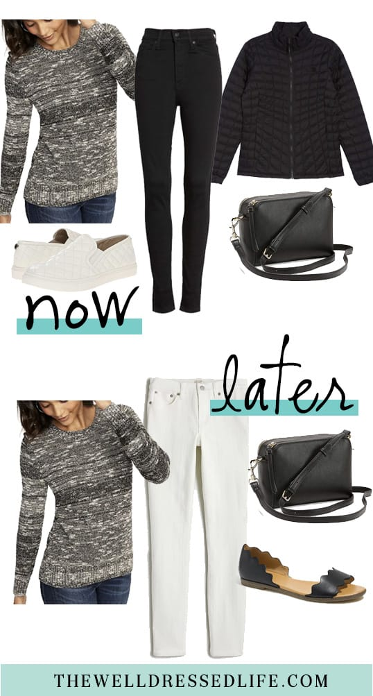 Wear Now and Later: Black Marled Sweater
