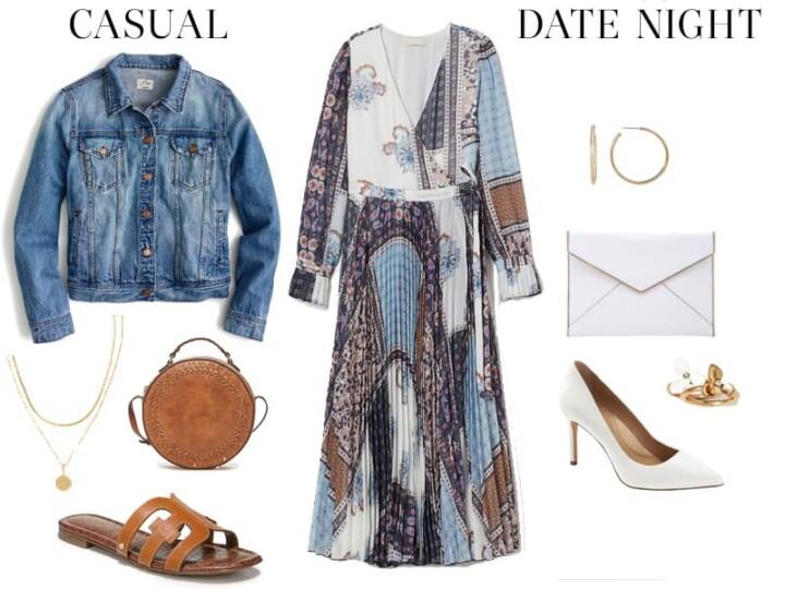 Weekend Outfit Inspiration: Patterned Chiffon Dress