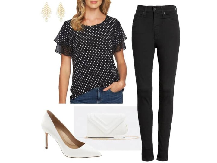Weekend Outfit Inspiration: Black and White Polka Dots