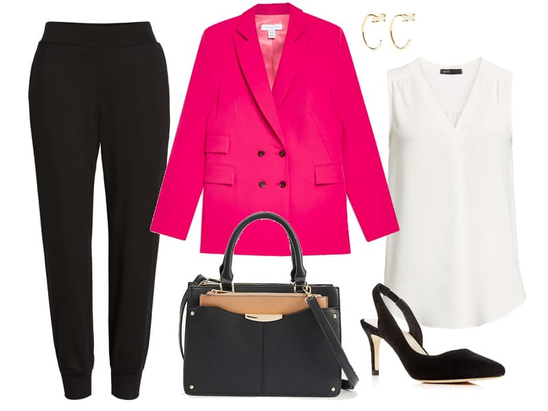 e3e8e442488d Hot Pink Blazer Outfit to Wear to Work