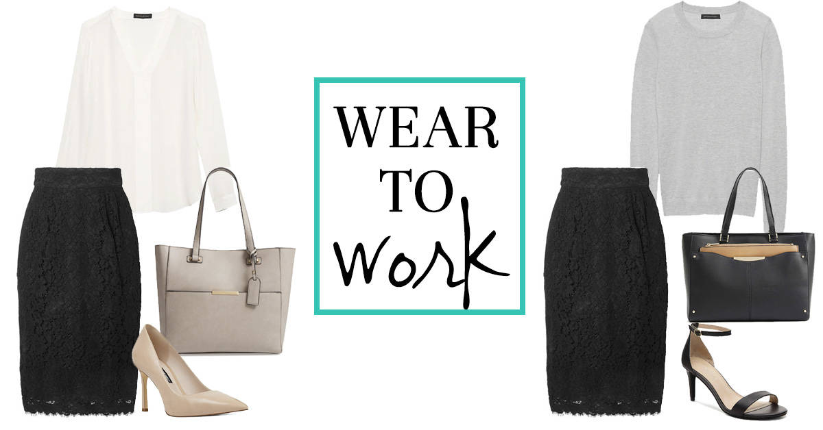 Wear to Work: Lace Skirt