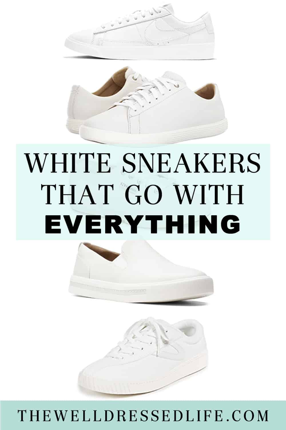 Classic White Sneakers that Go with Everything