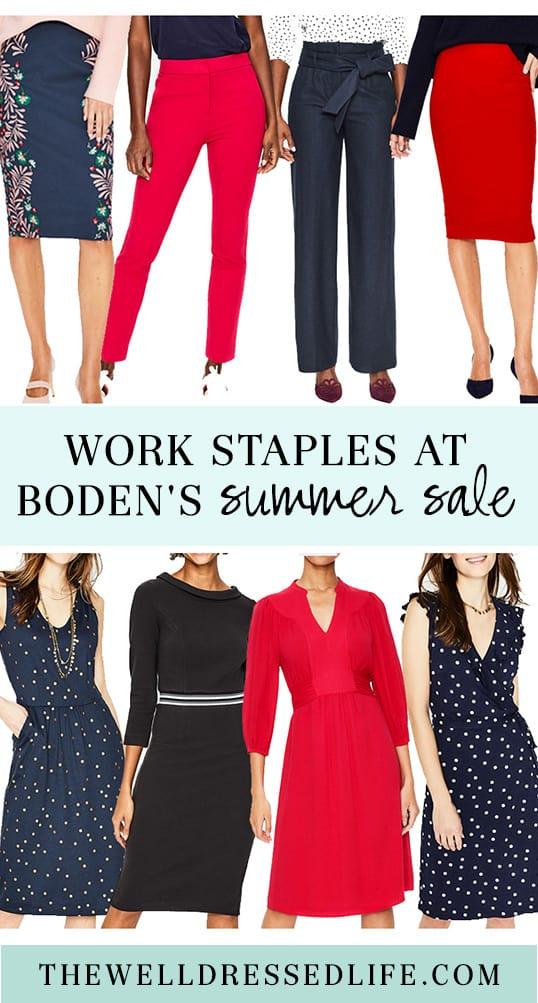 Work Staples at Boden\'s Summer Sale