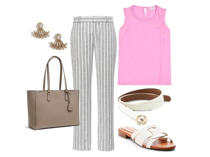 Two Way Workwear: Banana Republic Striped Linen Pants