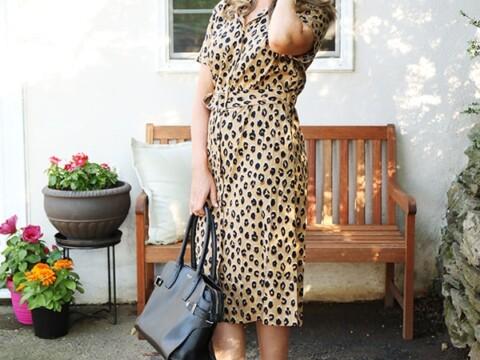 Workwear Wednesday: Leopard Print Shirt Dress