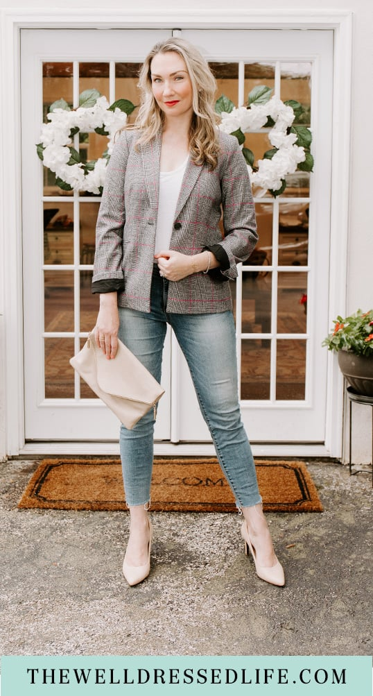 Workwear Wednesday: My Favorite Glen Plaid Pieces for Fall