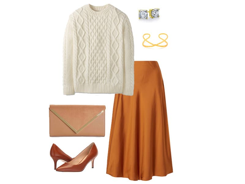 How to wear a silk skirt for Fall