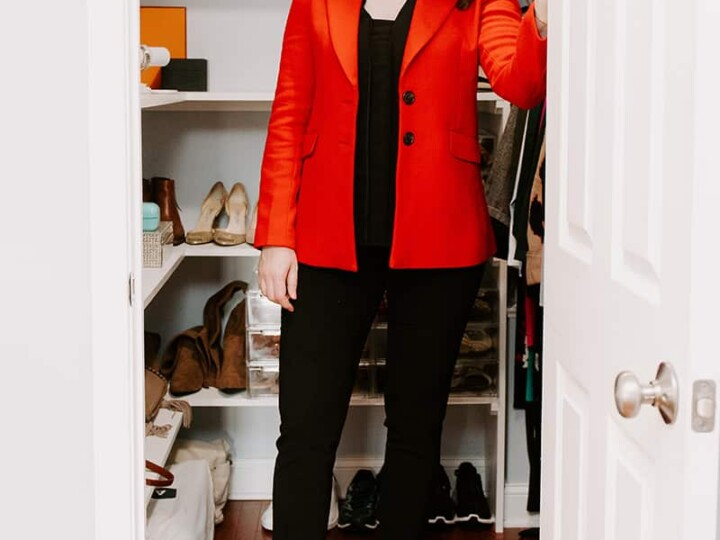 Easy Red Blazer Outfit for Work