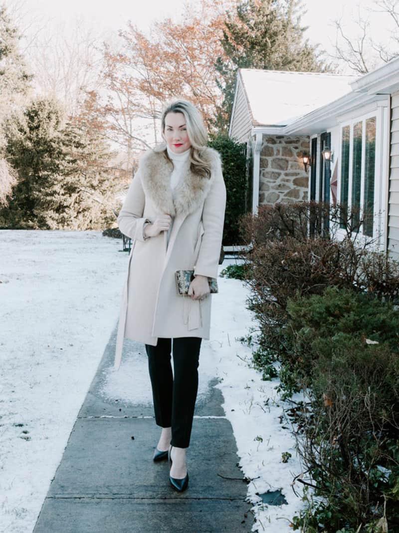 Megan in a winter coat