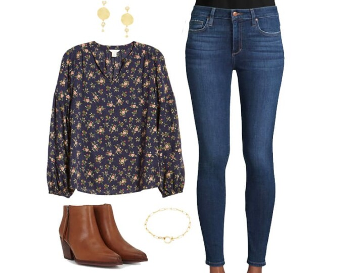 A Sweet Floral Top for Jeans