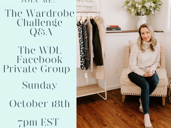 Join me for a LIVE Facebook Q&A!