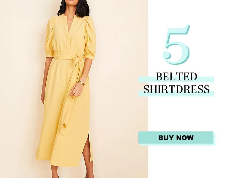 Ann Taylor Belted Shirtdress