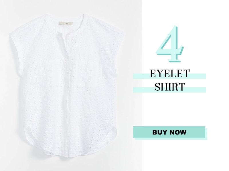 LOFT eyelet shirt